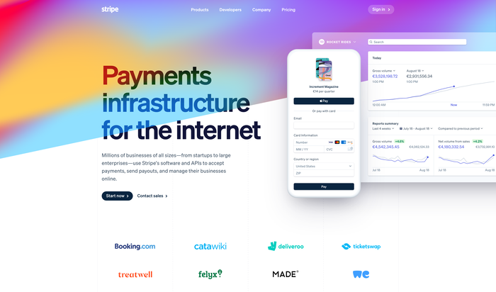 Stripe website (2020) 1