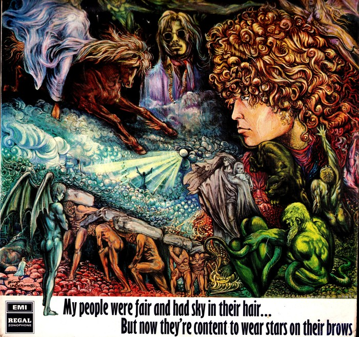 Tyrannosaurus Rex  ‎–  My People Were Fair and Had Sky in Their Hair … but Now They're Content to Wear Stars on Their Brows  album art 1