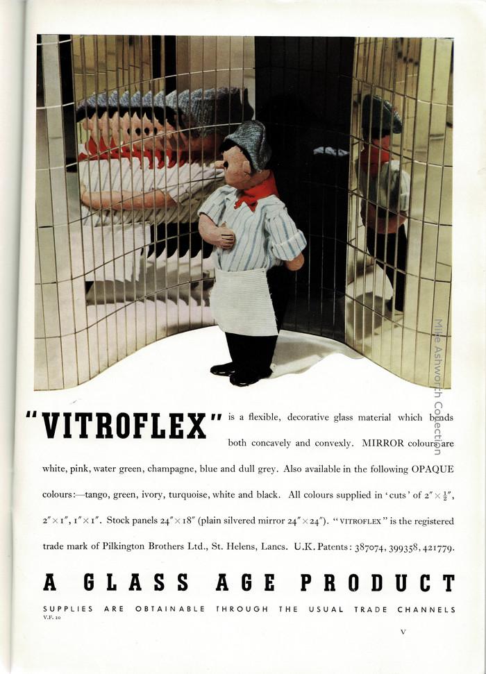 """Vitroflex"" ad by Pilkington Brothers Ltd. (1937)"