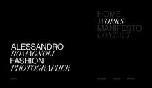 Alessandro Romagnoli portfolio website