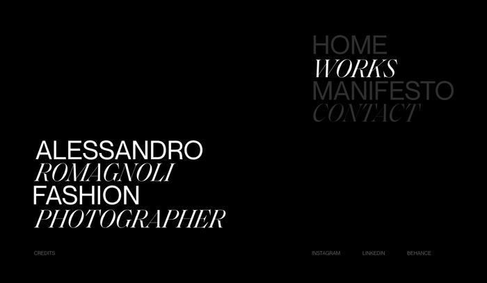 Alessandro Romagnoli portfolio website 8