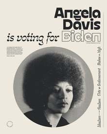 """______ is voting for Biden"" posters"