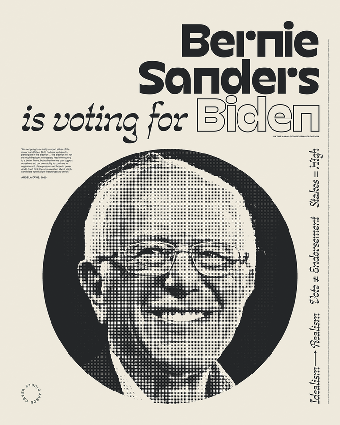 """______ is voting for Biden"" posters 4"