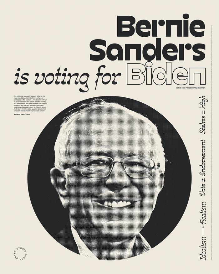 """______ is voting for Biden"" posters 4"