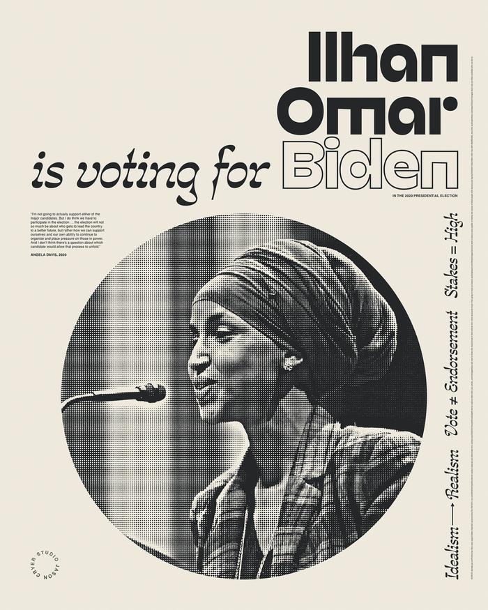 """______ is voting for Biden"" posters 5"