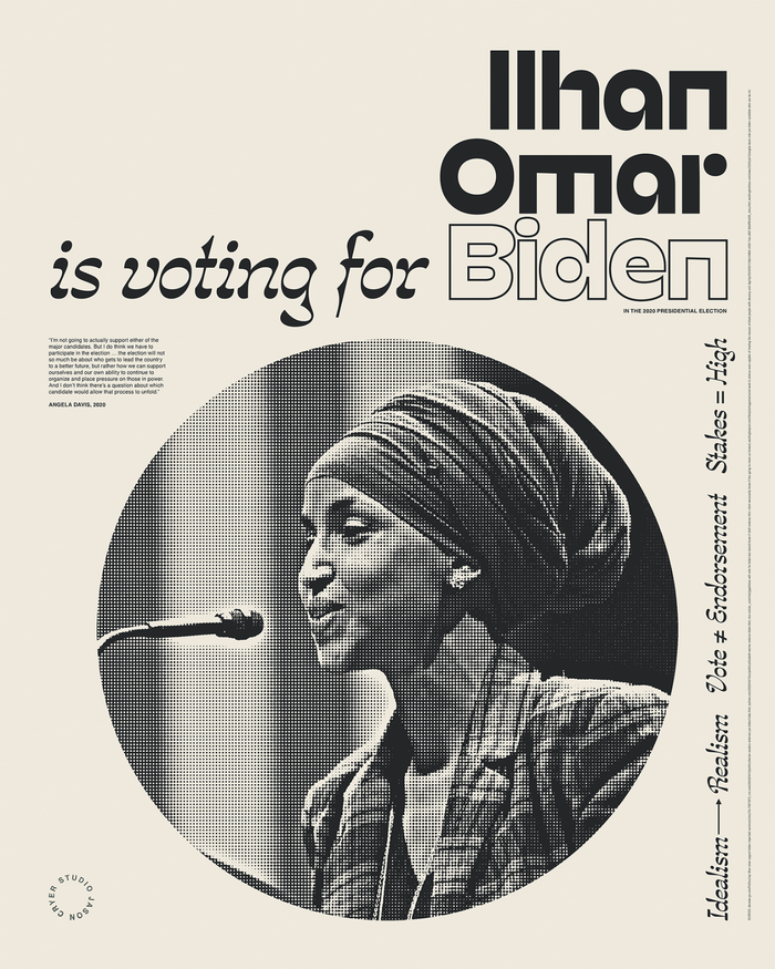 """______ is voting for Biden"" posters 5"