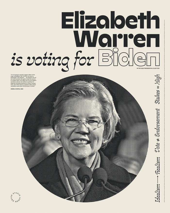"""______ is voting for Biden"" posters 6"