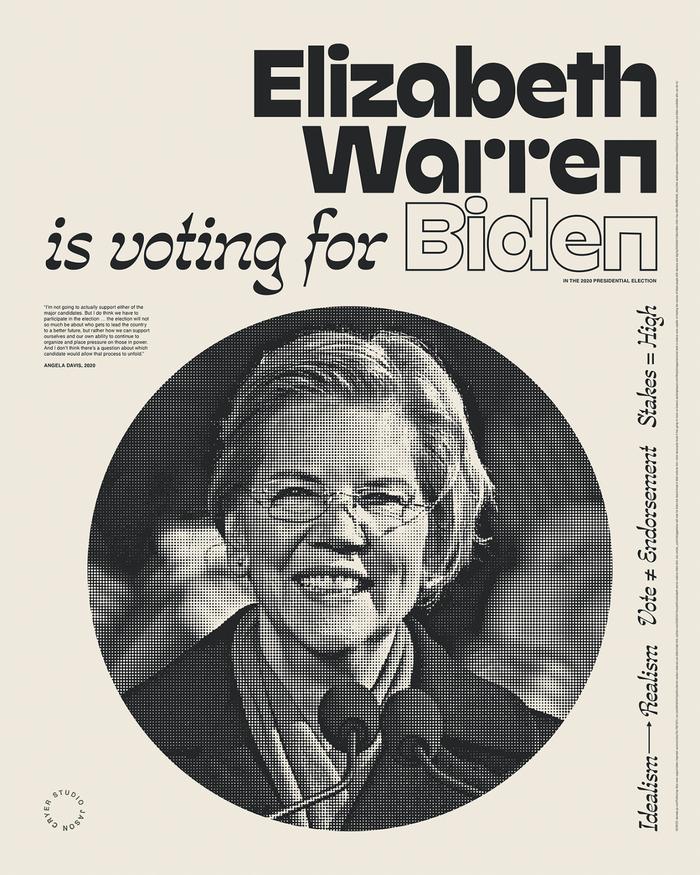 """______ is voting for Biden"" posters 6"