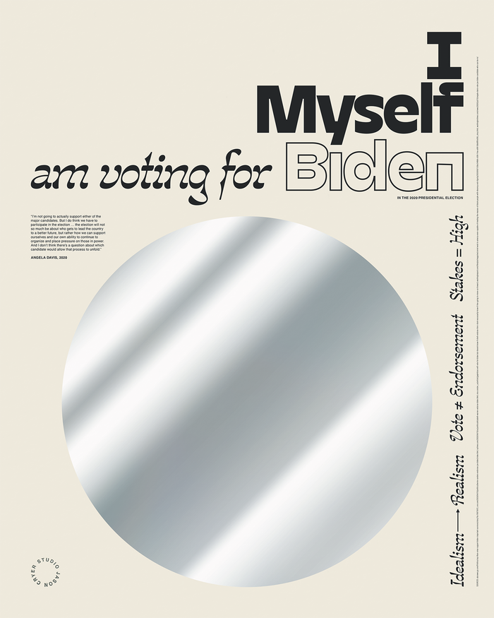 """______ is voting for Biden"" posters 7"