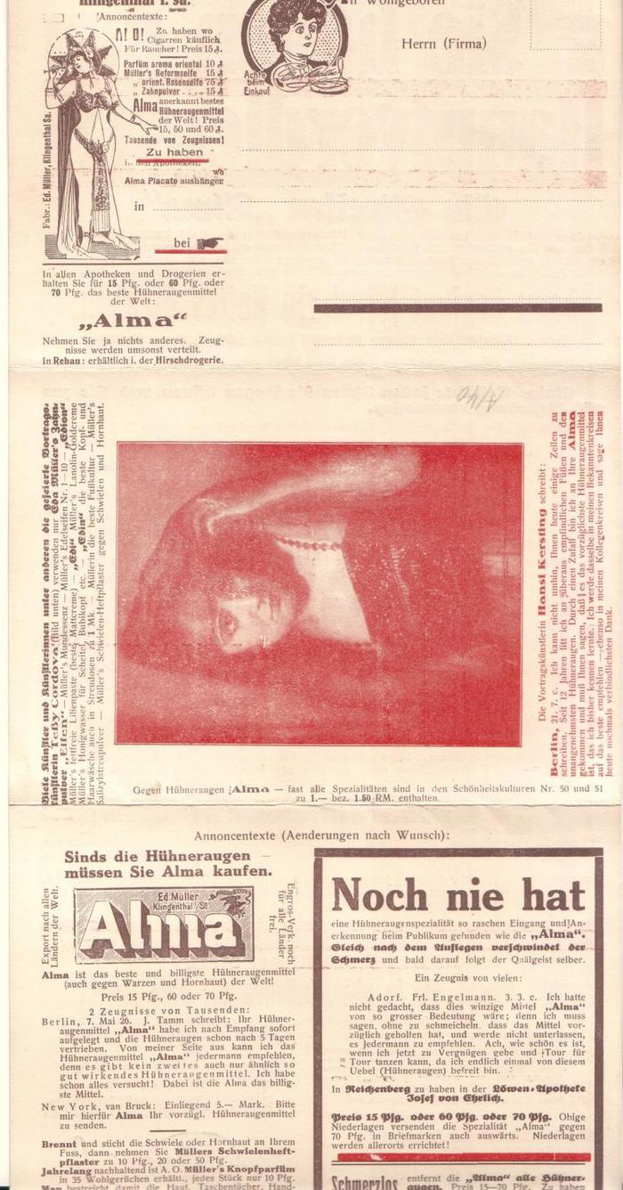 """Noch nie hat"" is  fett (Berthold, 1908)."