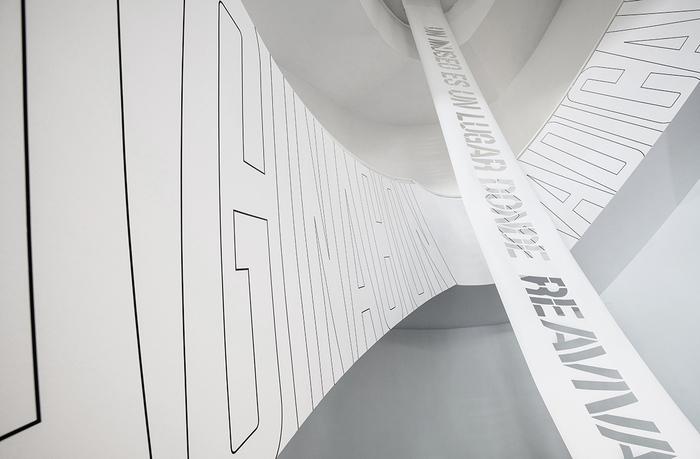 Centro de Arte Dos de Mayo (CA2M) museum signage 3