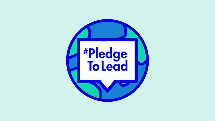 #PledgeToLead logo ft. .