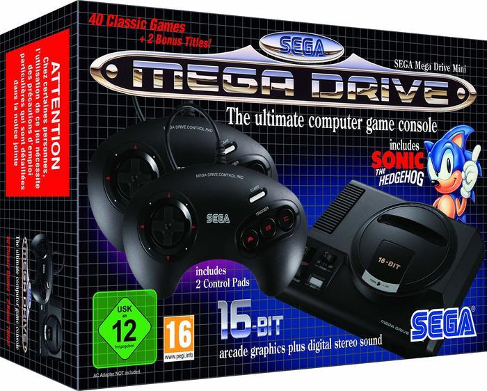 Sega Mega Drive packaging.