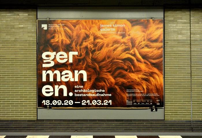 Large-format poster in Berlin's U-Bahn,