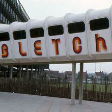 Bletchley Leisure Centre walkway