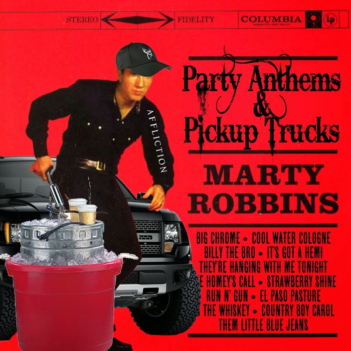 Party Anthems & Pickup Trucks, a persiflage that keeps Clarendon in place, but paired with  and a condensed Tuscan.