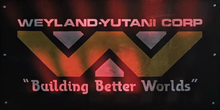 Weyland-Yutani Corp logo and slogan in <cite>Aliens</cite> (1986)