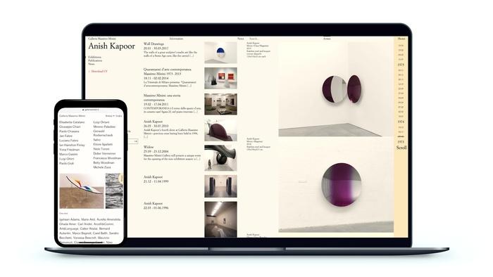 Galleria Massimo Minini website 2