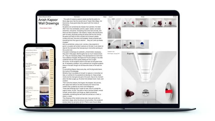 Galleria Massimo Minini website 1