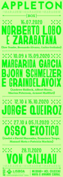 Appleton/Garagem event poster