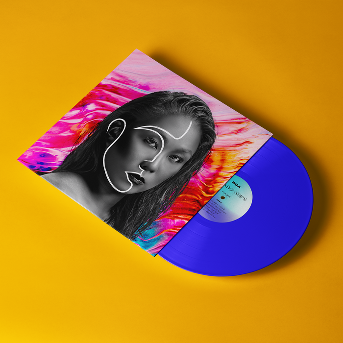 180gm transparent blue vinyl, limited editon of 50.