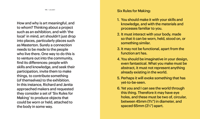A spread from the booklet, as seen in a version of the publication that is available as a download on the artist's website.