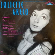 <span>Juliette Gréco – <cite>4ème Série</cite> album art</span>
