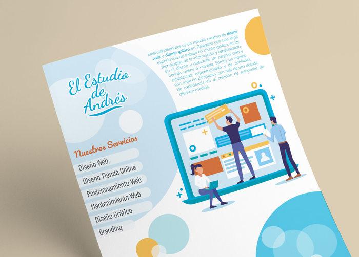 El Estudio de Andrés promotional flyer 1