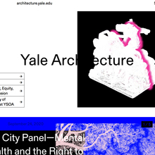 Yale Architecture website