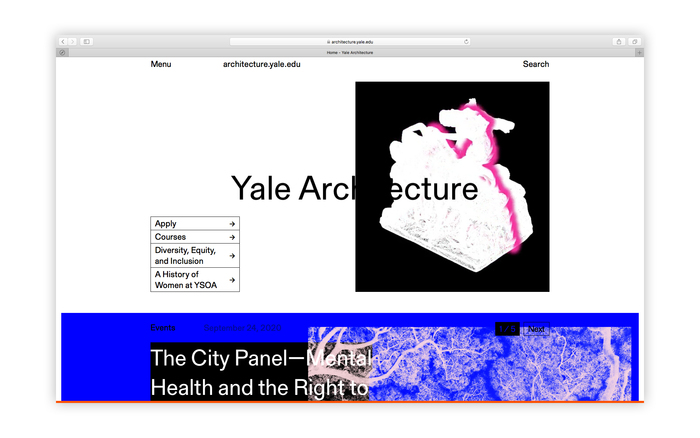 Yale Architecture website 1