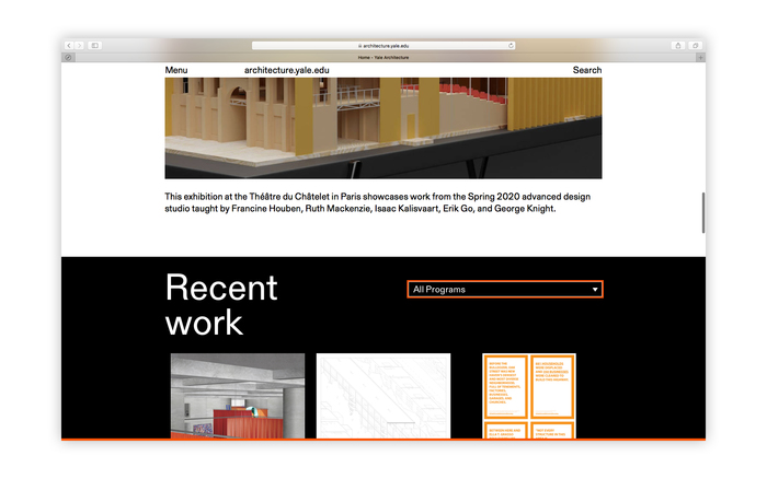 Yale Architecture website 4