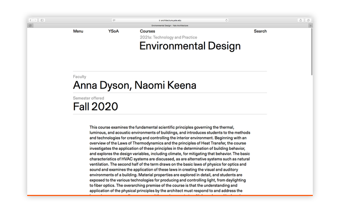 Yale Architecture website 7
