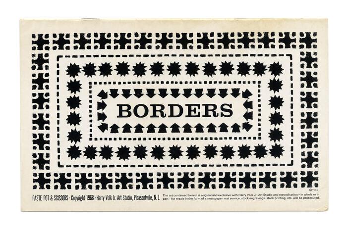 """""""Borders"""" (No. PP115) ft.  caps."""