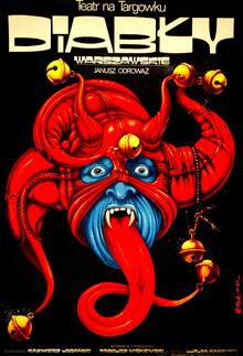 <cite>Diabły Warszawskie</cite> theater poster