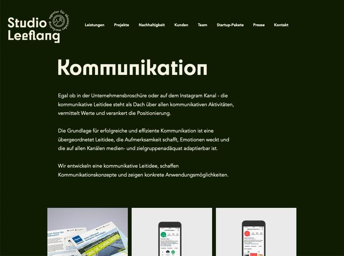 Studio Leeflang website 2