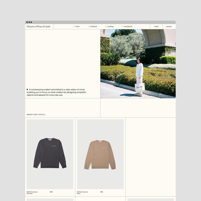 Museum of Peace & Quiet website 1