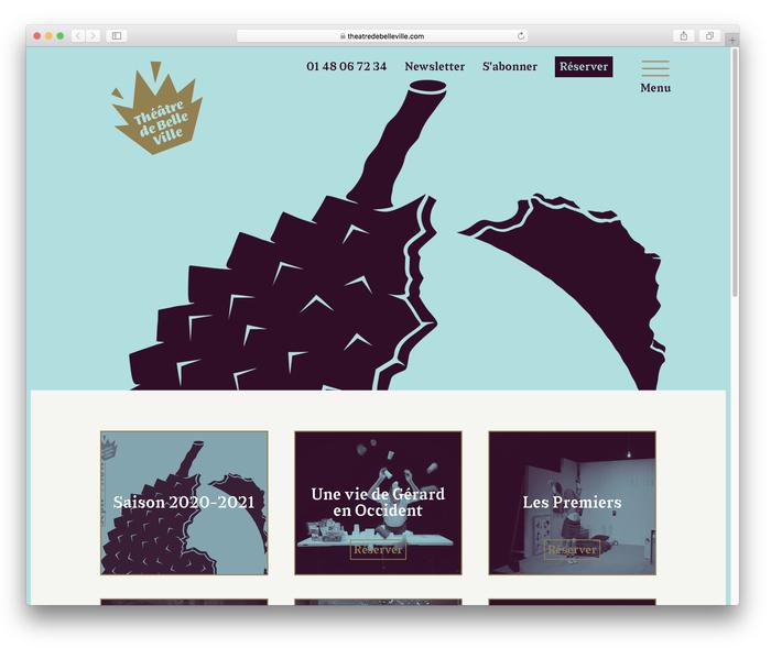 Théâtre de Belleville website 1