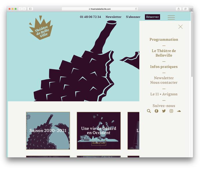 Théâtre de Belleville website 2
