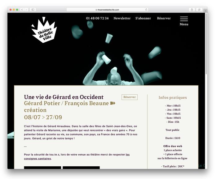 Théâtre de Belleville website 3