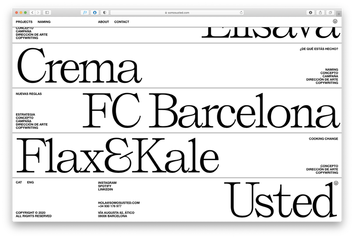 Somos Usted portfolio website 1