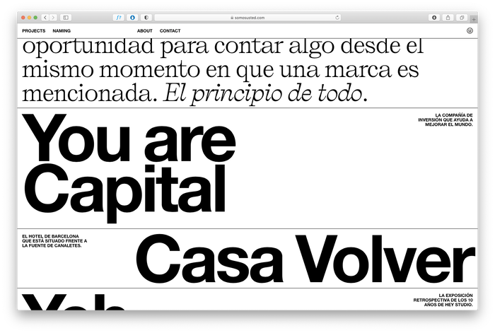 Somos Usted portfolio website 7