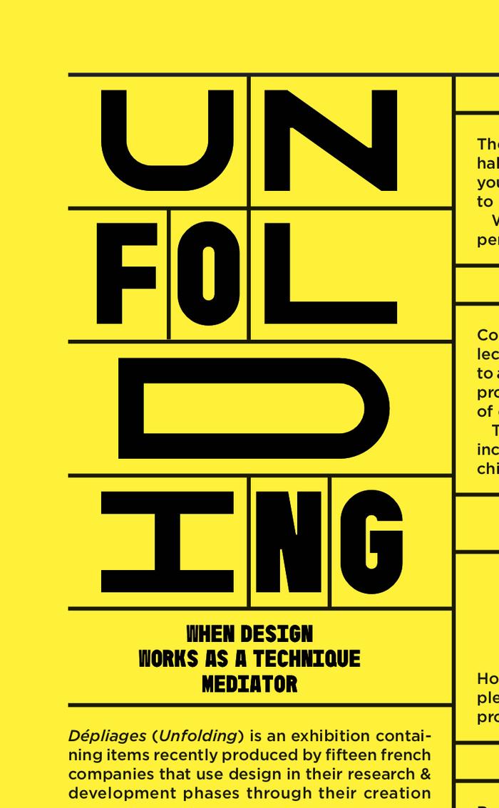 Dépliages (Unfolding) exhibition 14