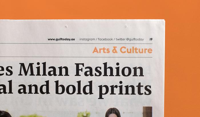 Gulf Today newspaper redesign 3