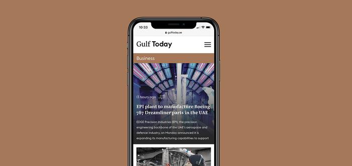 Gulf Today newspaper redesign 5