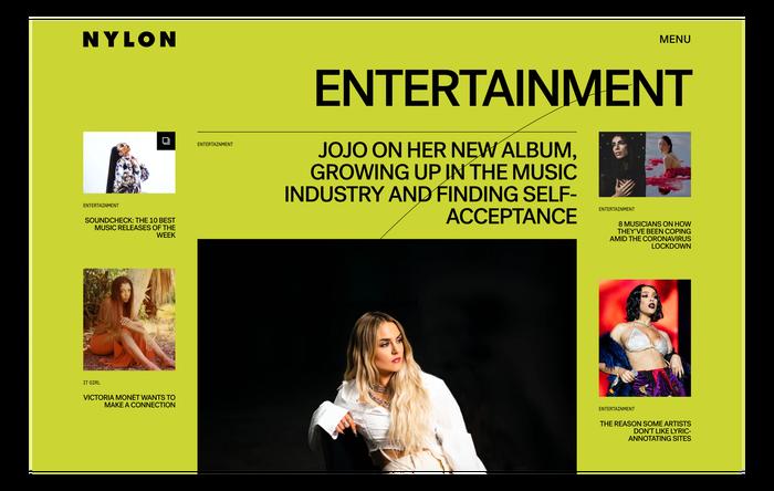 Nylon magazine website 4