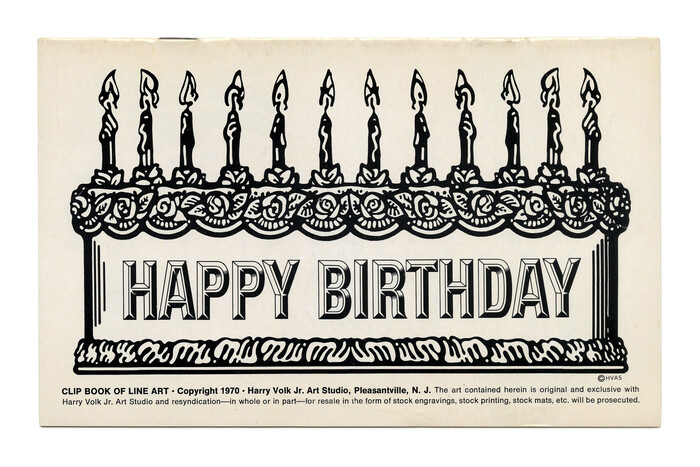 """""""Happy Birthday"""" (No. 190) ft.  (1969). The small text is in ."""
