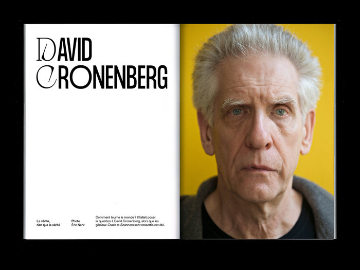 Interview with Canadian filmmaker David Cronenberg. Featuring Formula Condensed & Apoc.
