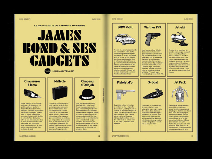 """La Septième Obsession, """"James Bond"""" issue 2"""
