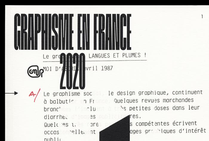 Graphisme en France 2020 2