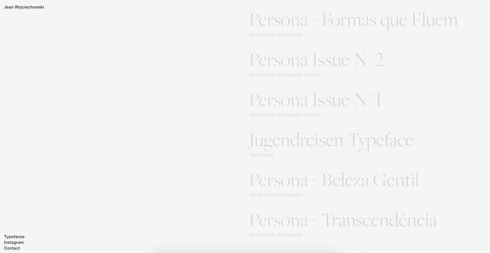 Jean Wojciechowski portfolio website 2